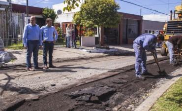 Comenzaron las obras de repavimentación en el barrio Dálmine Nuevo