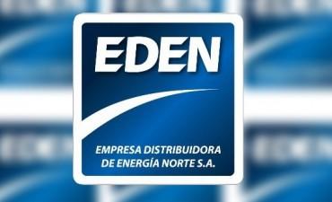 Eden informa sobre el corte de energìa en la mañana de hoy