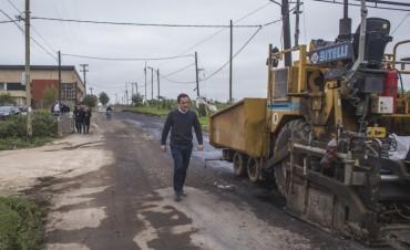Se retomaron los trabajos de repavimentación de la Vigalondo