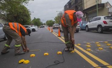 Se colocan reductores de velocidad en el boulevard Dellepiane