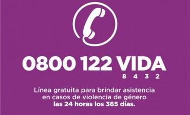El Municipio amplía la asistencia a las víctimas de violencia de género mediante el 0800 122 VIDA