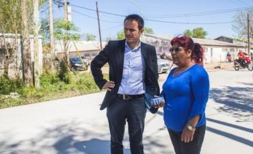 Continúan las obras de urbanización en San Cayetano y 21 de Septiembre