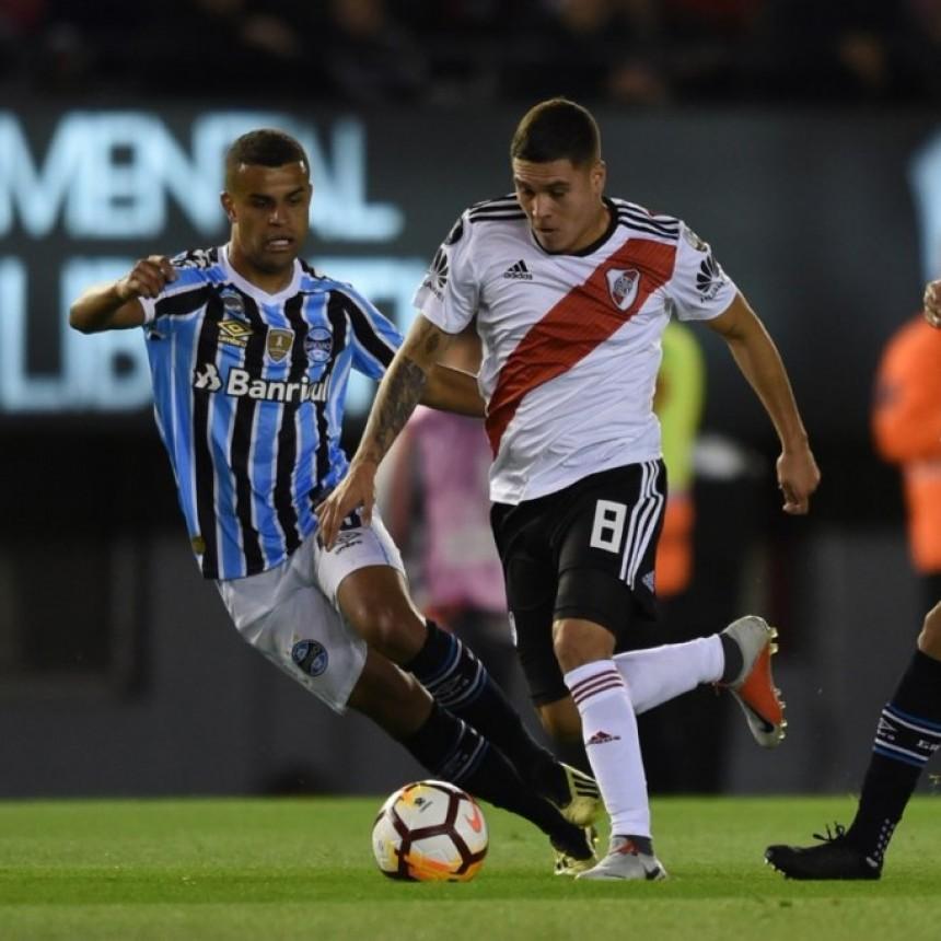 Gremio de Porto Alegre venció a River Plate por 1 a 0
