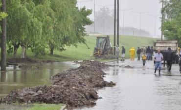La Intendente Giroldi recorrió las zonas afectadas por la sudestada y las fuertes lluvias