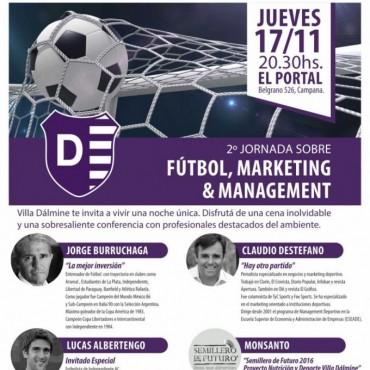 Villa Dálmine: Se viene la Segunda Jornada sobre Fútbol, Marketing y Management