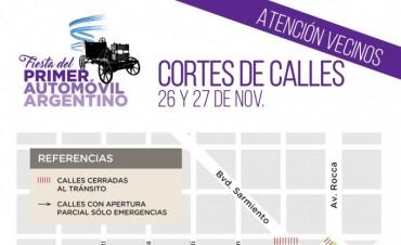 El Municipio informa los cortes de tránsito por la Fiesta del Primer Automóvil Argentino