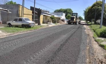 El Municipio también mejora con RAP las calles del barrio 9 de Julio