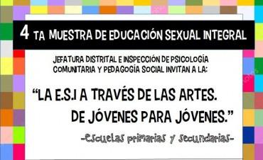 """""""LA E.S.I. A TRAVES DE LAS ARTES. De jóvenes para jóvenes"""". 4ta. Muestra Anual de Educación Sexual integral de Escuelas primarias y secundarias"""