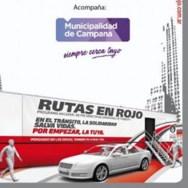"""""""Rutas en Rojo"""", una acción del Grupo Sancor Seguros"""" desde hoy en Campana"""
