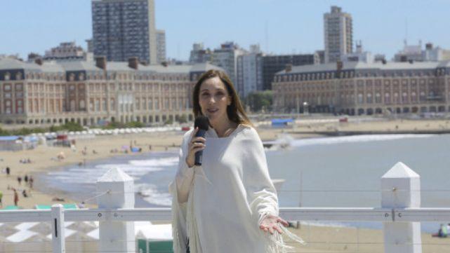La Gobernadora Vidal anunció descuentos en Mar del Plata