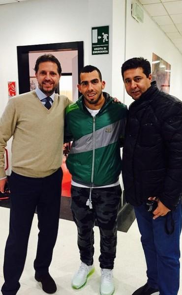 Angelici cenó con Tevez y se reunió con el presidente de la Juventus