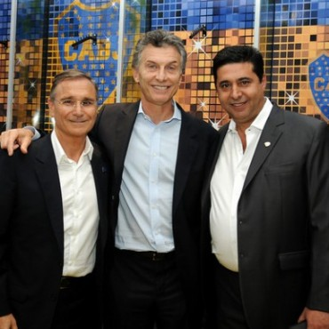 Homenaje a Mauricio Macri en Boca Juniors