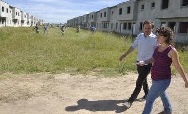 Se iniciaron los trabajos para terminar el barrio 104 viviendas