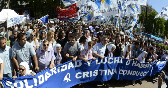 Marcha de la Resistencia contra la mentira y el hambre