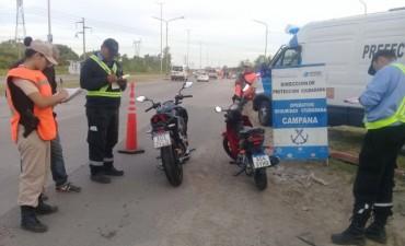 Se secuestraron 9 motos y 1 automóvil en el ingreso al barrio San Cayetano