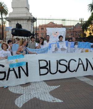 Los familiares de tripulantes del A.R.A San Juan pien que siga la bùsqueda