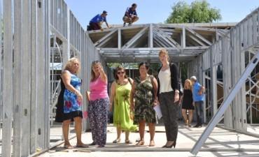 Mejor educación: Avanzan las obras de construcción del nuevo edificio de la Escuela de Arte
