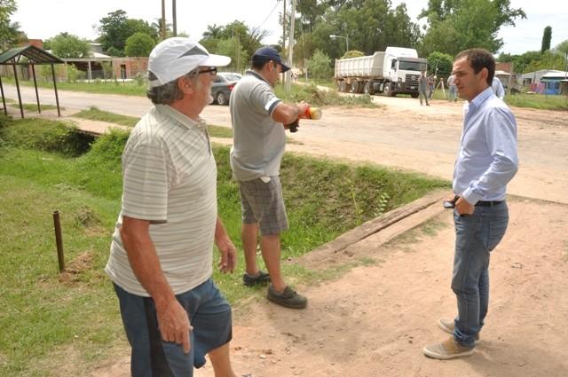 Otamendi: Abella recorrió obras hidráulicas para evitar inundaciones