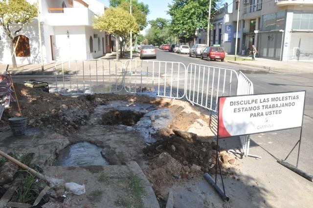 El Municipio realizó trabajos de bacheo en 25 de Mayo y French