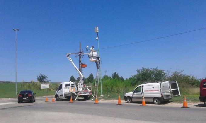 Vecinos de Santa Brígida agradecieron al Municipio la colocación de las cámaras en Ruta 4