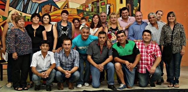 Barrio Lubo: Abella participó de la presentación de la nueva comisión directiva de la sociedad de fomento