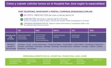 El Hospital Municipal posee diferentes vías de comunicación para solicitar turnos