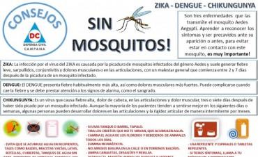 Defensa Civil brinda recomendaciones para prevenir el Dengue, Zika y Chikungunya
