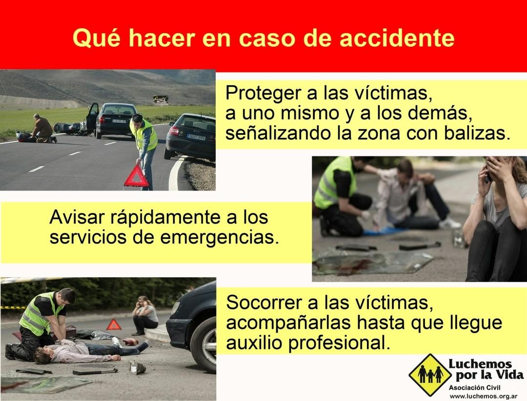 Qué hacer en caso de accidente