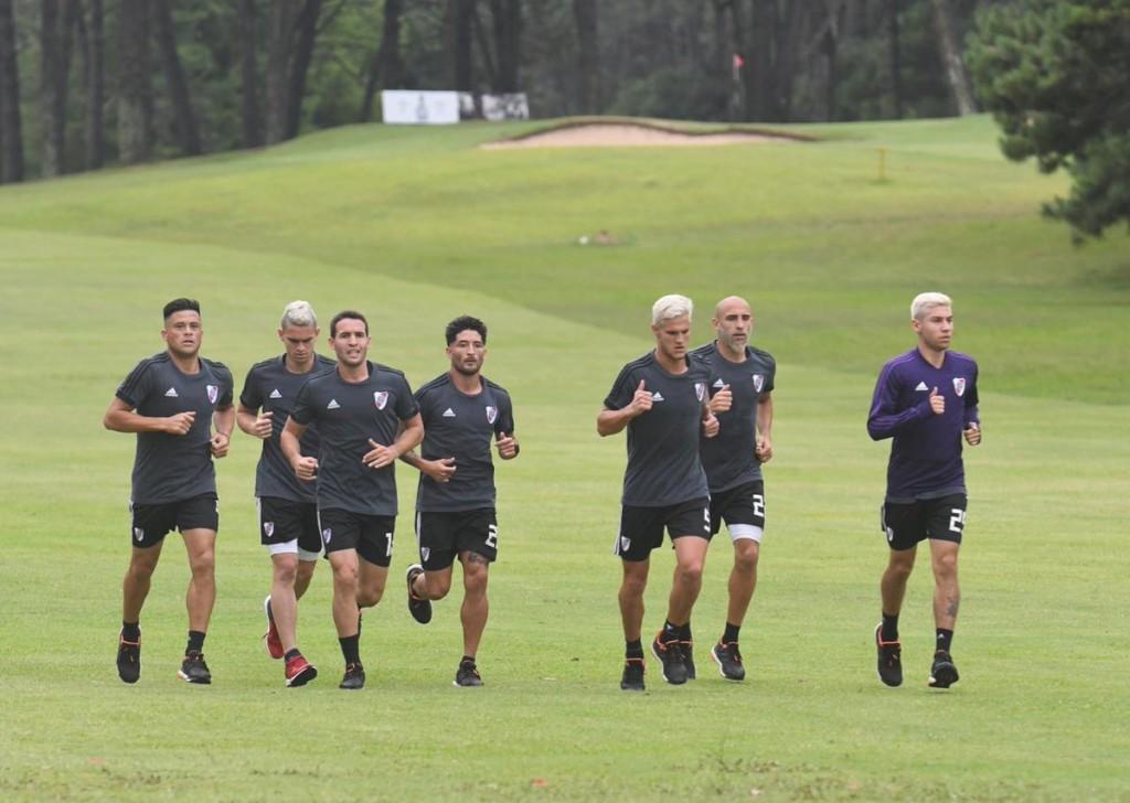 River Plate entrenó doble turno en Punta del Este