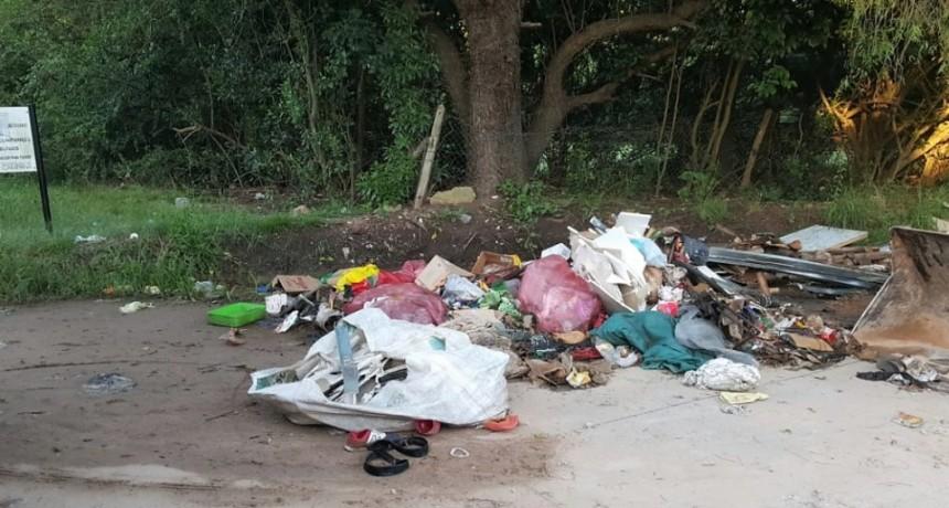 El Municipio limpió un basural en el barrio Parque Natura