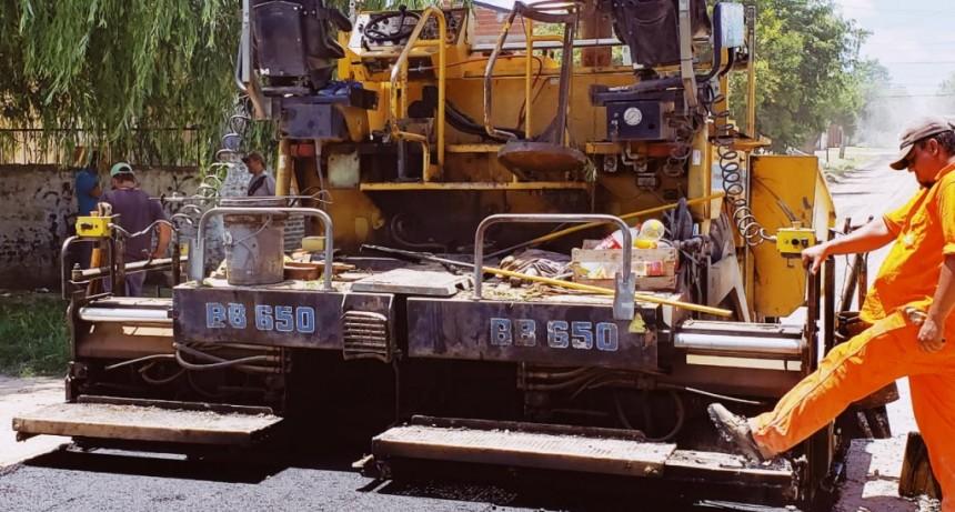 Las Acacias: el Municipio completa el asfalto de la calle Estanislao del Campo