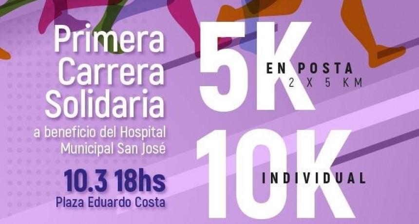 La Cooperadora del Hospital San José invita a los vecinos a participar de la Carrera Solidaria