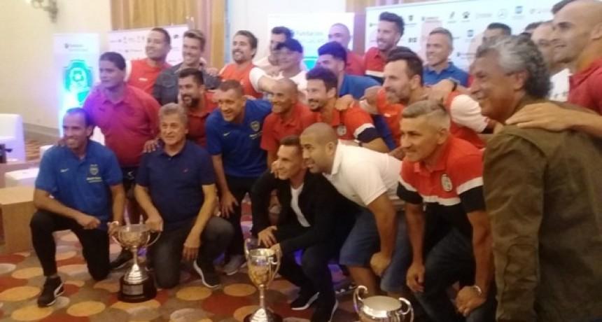 Las grandes glorias del fútbol argentino llegaron a Mar del Plata