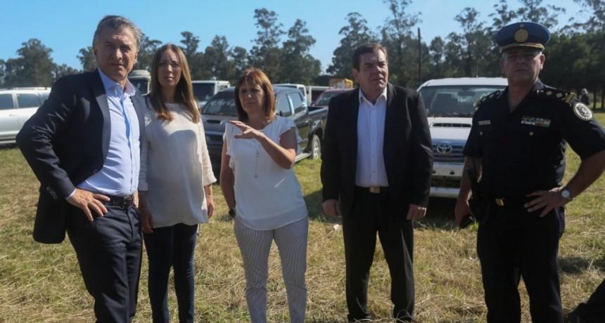 MAURICIO MACRI Y MARÍA EUGENIA VIDAL RECORRIERON EL HOSPITAL HOUSSAY Y EL PLAYÓN DE EXTINCIÓN DE DOMINIO DE MAR DEL PLATA