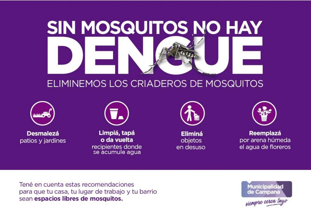 Recuerdan medidas de prevención contra el Dengue
