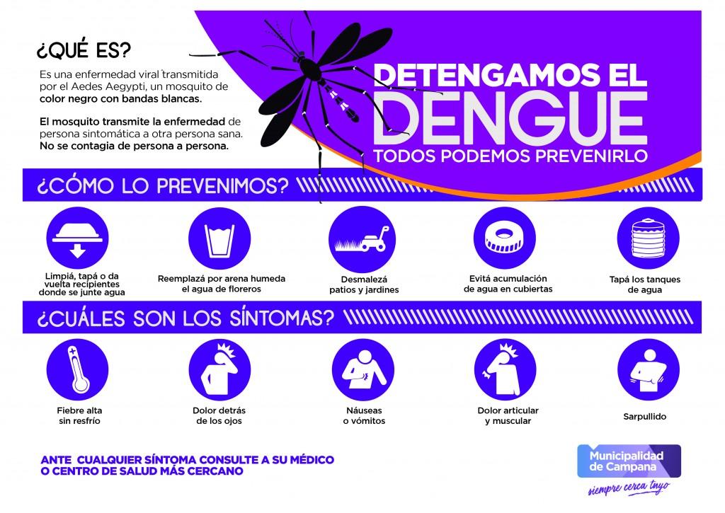 Dengue: el Municipio insiste en la importancia de la prevención en cada uno de los hogares