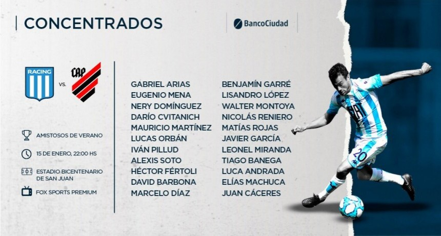 El Racing de Sebastián Becaccece hace su debut ante Paranaense de Brasil