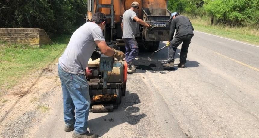 Ruta 4: el Municipio realizó nuevos trabajos de bacheo