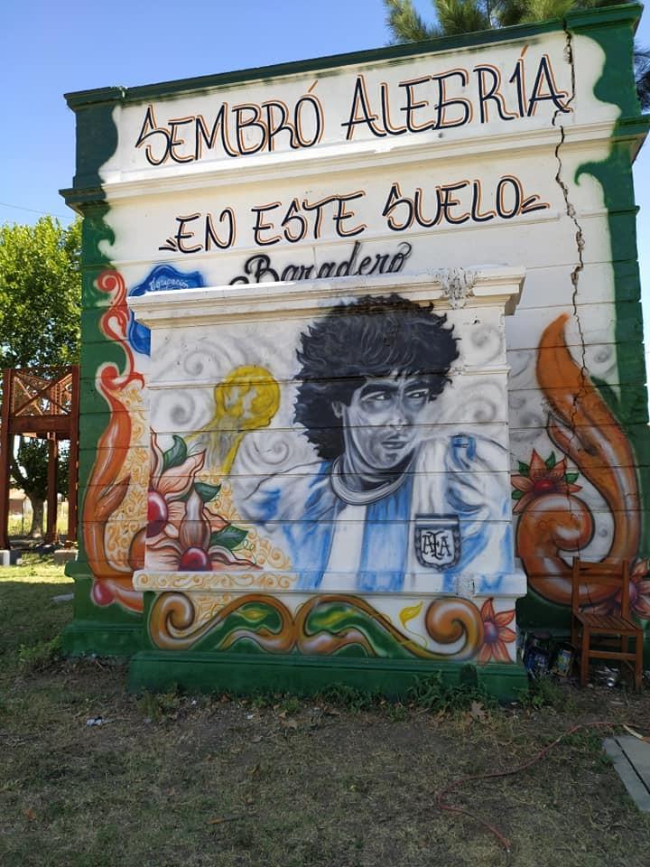 Baradero le rindió homenaje a Diego Armando Maradona