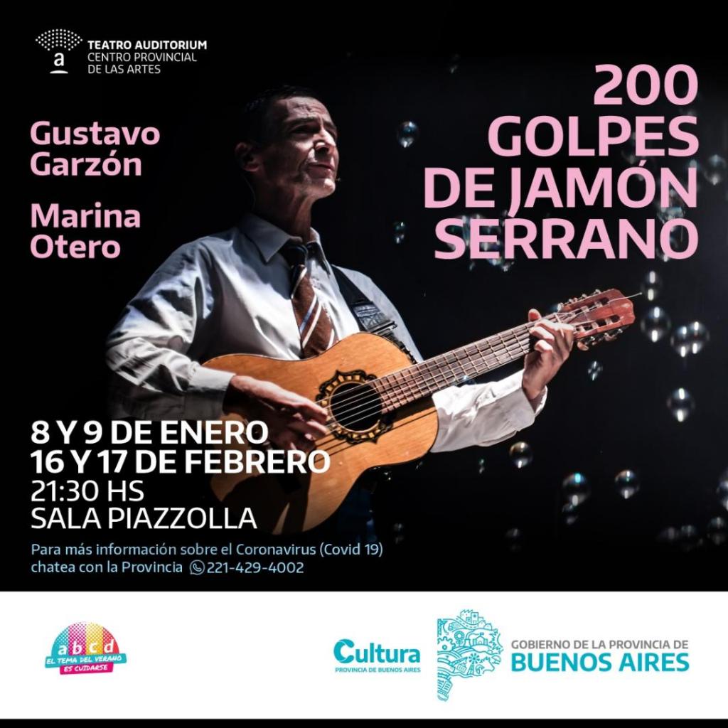 "Protagonizada por Gustavo Garzón y Marina Otero  LLEGA AL AUDITORIUM  ""200 GOLPES DE JAMÓN SERRANO"""