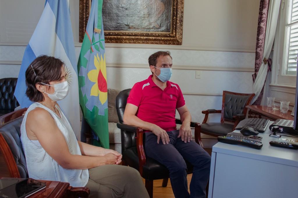 Abella se reunió con autoridades provinciales para avanzar en la coordinación del proceso de vacunación