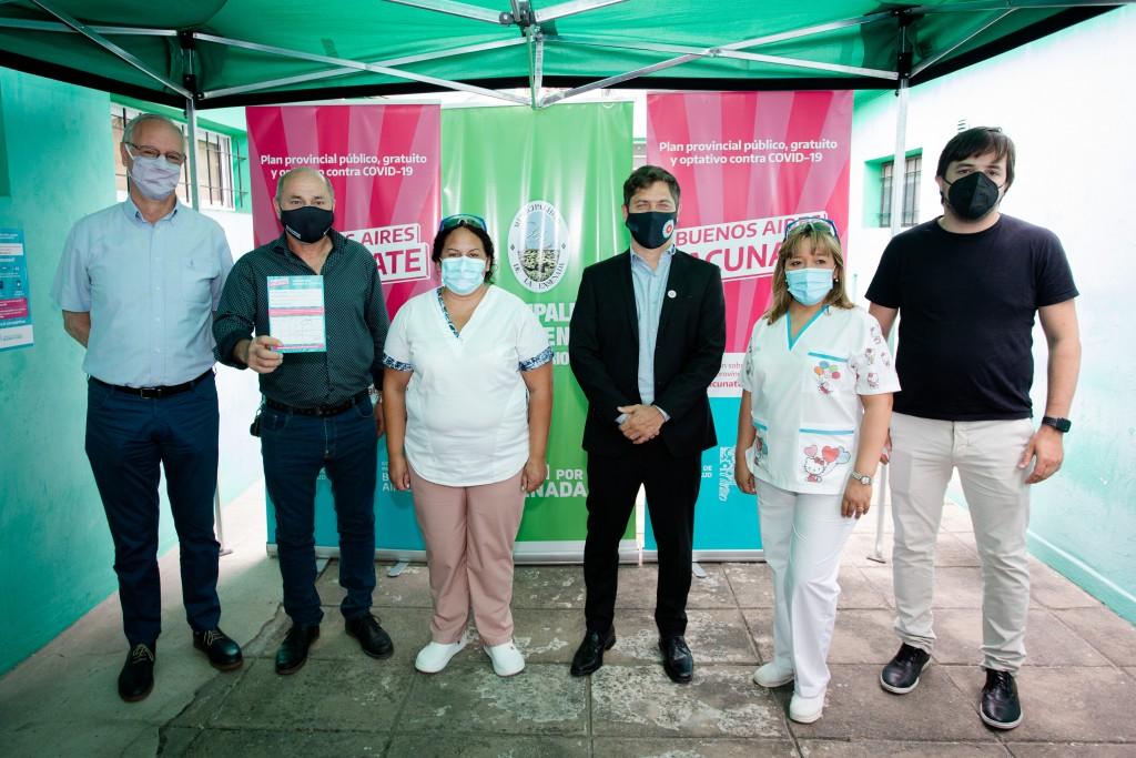 BUENOS AIRES VACUNATE Kicillof y Secco visitaron el operativo de vacunación en Ensenada