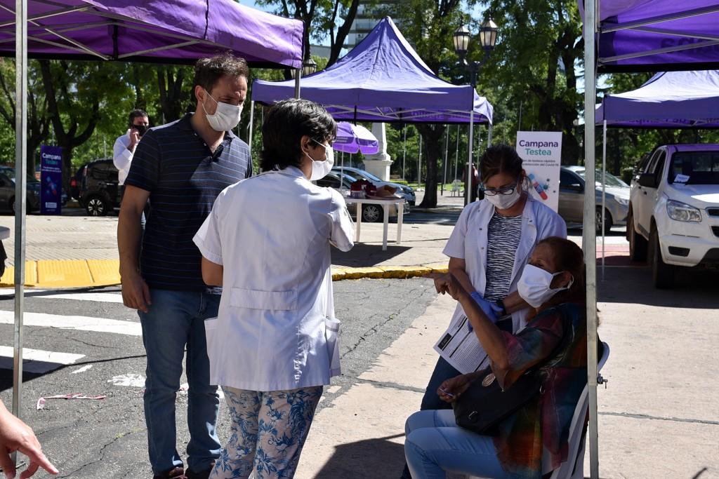 El Intendente encabezó la tercera jornada de testeos rápidos para detectar casos de COVID-19