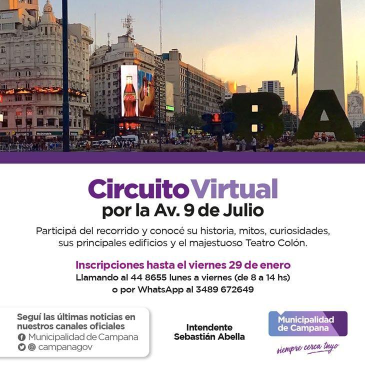 Invitan a adultos mayores a disfrutar de un paseo virtual por la avenida 9 de Julio