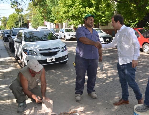 El intendente Abella recorrió obras de mantenimiento en la ciudad