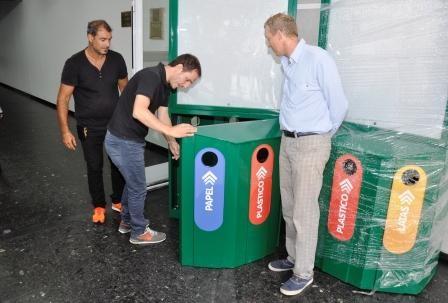 Los primeros tótems para reciclaje se instalarán en la plaza Eduardo Costa