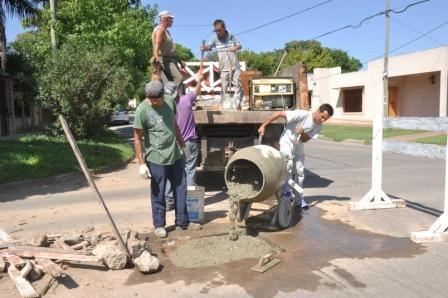 Nuevos trabajos de bacheo en el casco céntrico de la ciudad