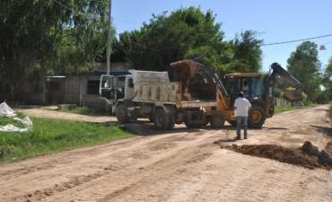 San Jacinto: se realizó la limpieza integral de la calle De la Torre