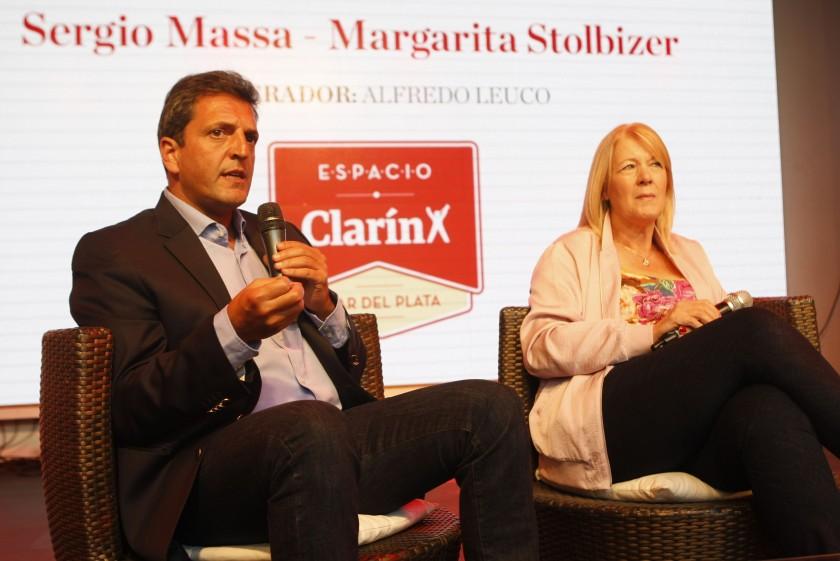 Massa y Stolbizer abrieron el ciclo: Diálogos para pensar el país