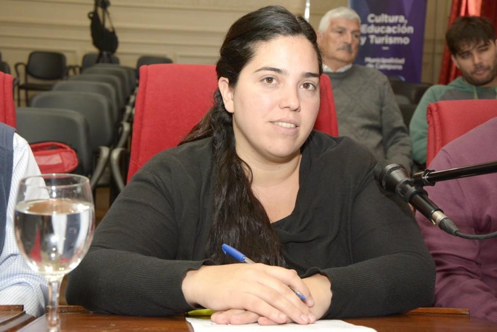 Soledad Calle se refiriò a la movilizaciòn de hoy